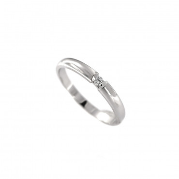 White gold engagement ring with diamond DBBR06-17