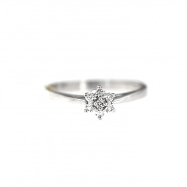 White gold engagement ring with diamonds DBBR07-03
