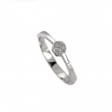 White gold engagement ring with diamonds DBBR07-04