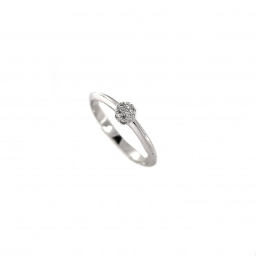 White gold engagement ring with diamonds DBBR07-05