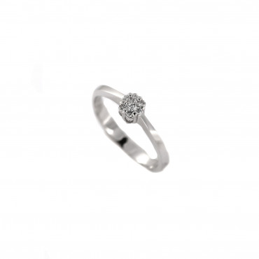 White gold engagement ring with diamonds DBBR07-06