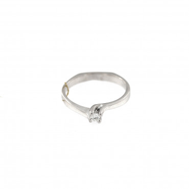 White gold engagement ring with diamond DBBR08-01