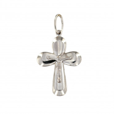 White gold cross pendant ABK01-01