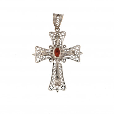 White gold cross pendant ABK05-01