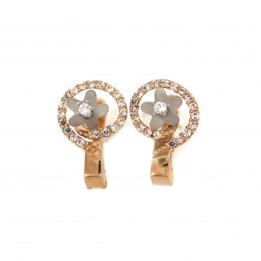 Rose gold zirconia earrings BRA04-01-01