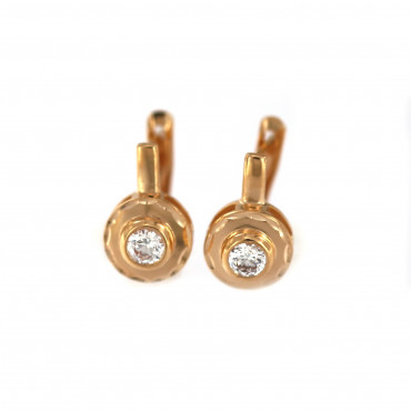 Rose gold zirconia earrings BRA04-01-04