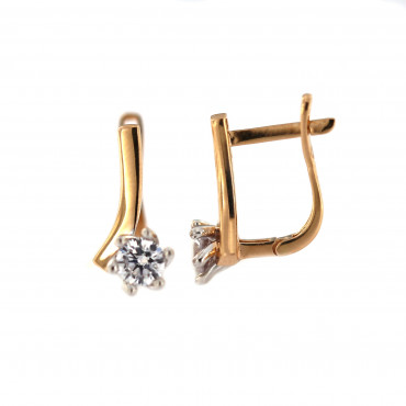 Rose gold zirconia earrings BRA04-02-03