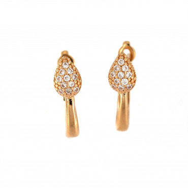 Rose gold zirconia earrings BRA04-03-02