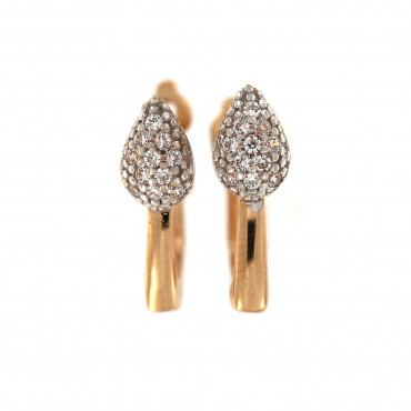 Rose gold zirconia earrings BRA04-03-04