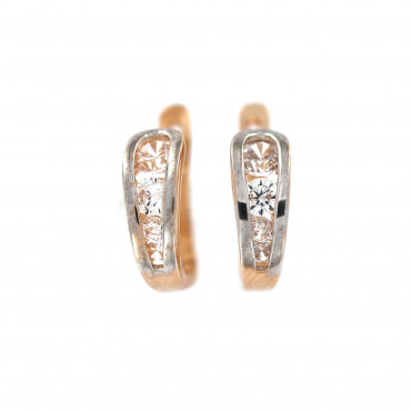 Rose gold zirconia earrings BRA04-04-04