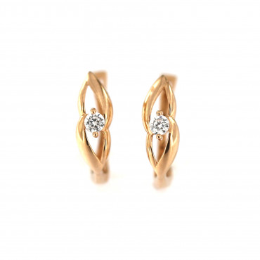 Rose gold zirconia earrings BRA04-04-05