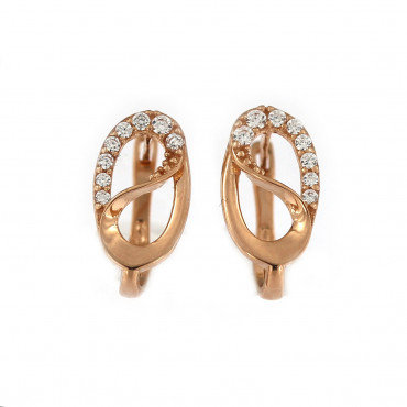 Rose gold zirconia earrings BRA04-07-08