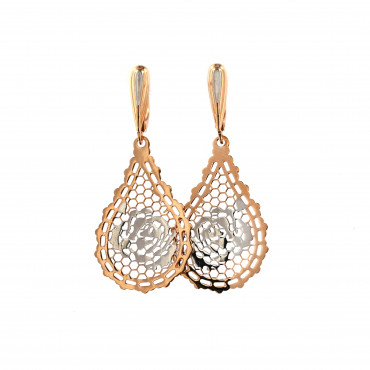 Rose gold drop earrings BRA05-09-03
