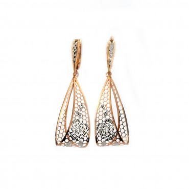 Rose gold drop earrings BRA05-09-05