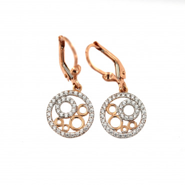 Rose gold drop earrings BRA05-01-03