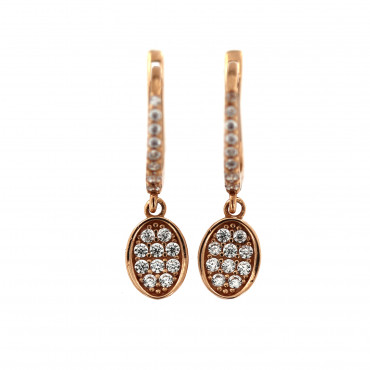 Rose gold drop earrings BRA05-02-01