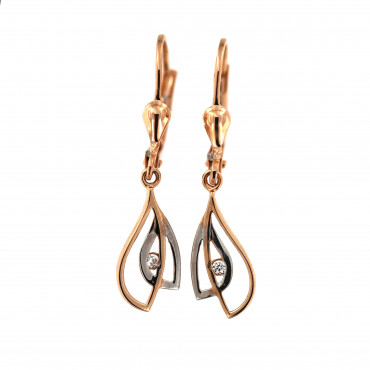 Rose gold drop earrings BRA05-03-03