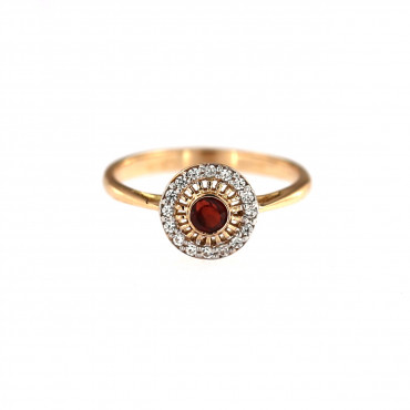 Rose gold zircon ring DRA04-02