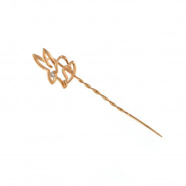 Rose gold brooch FRS02-01