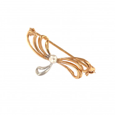Rose gold brooch FRS03-01
