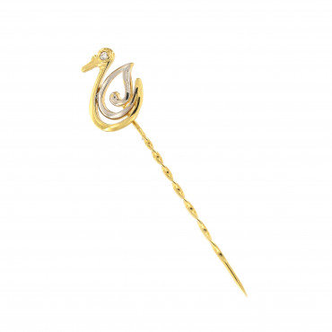 Yellow gold brooch FGS01-01