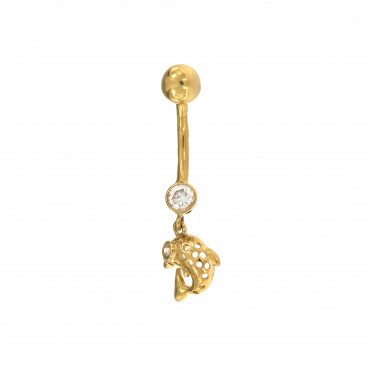 Yellow gold belly ring GG01-01