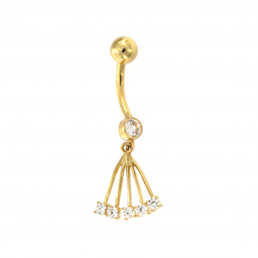 Yellow gold belly ring GG01-02