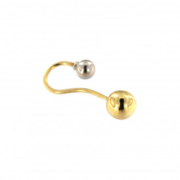 Yellow gold belly ring GG02-01