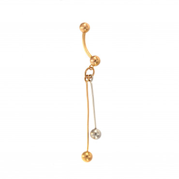 Rose gold belly ring GR02-01