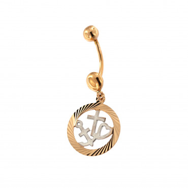 Rose gold belly ring GR02-02