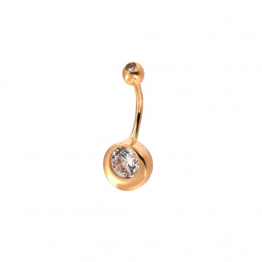 Rose gold belly ring GR03-02