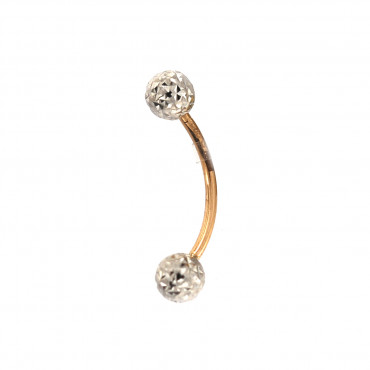 Rose gold belly ring GR04-02