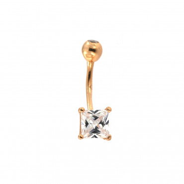 Rose gold belly ring GR05-01
