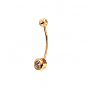 Rose gold belly ring GR03-01