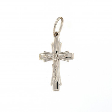 White gold cross pendant ABK01-02