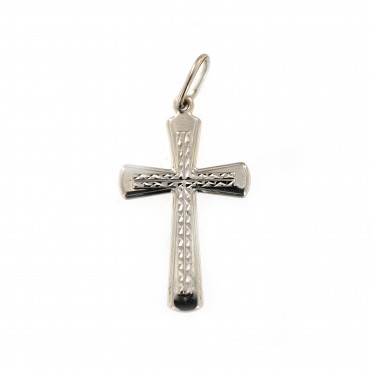 White gold cross pendant ABK02-03