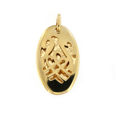 Yellow gold pendant AGBL04-03