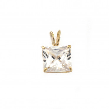 Yellow gold zirconia pendant AGC01-02
