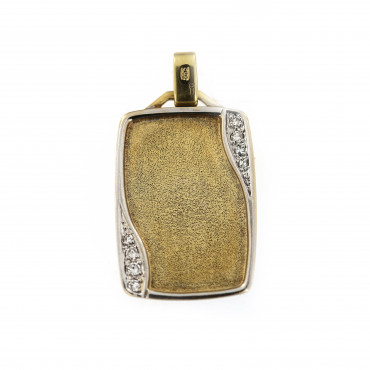 Yellow gold tag pendant AGPL04-01