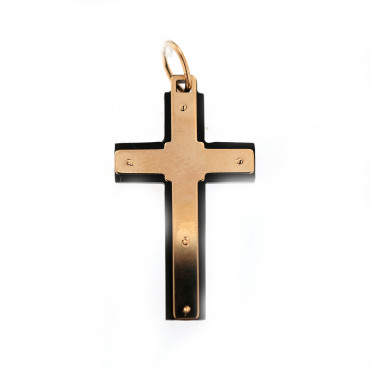 Rose gold cross pendant ARK02-24