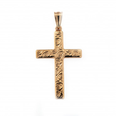 Rose gold cross pendant ARK02-25