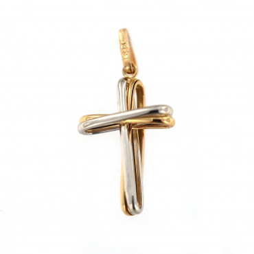 Rose gold cross pendant ARK02-27