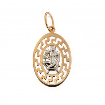 Rose gold Virgo pendant ARH-M-06