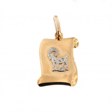 Rose gold Capricorn pendant ARH-O-07