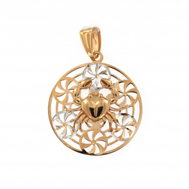 Rose gold Cancer pendant ARH-V-04