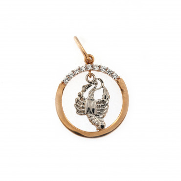 Rose gold Cancer pendant ARH-V-05