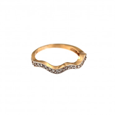 Rose gold zirconia ring DRAM04-02