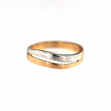 Rose gold ring DRB02-08