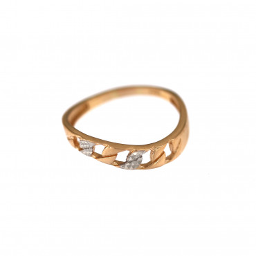 Rose gold ring DRB03-05