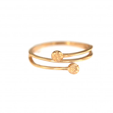 Rose gold ring DRB04-01